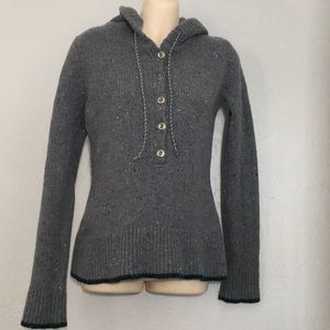 Patagonia Ranchito Gray sweater w/buttons  Small